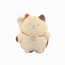 Maneki Neko - Clay Lucky Cat Right Hand (B)