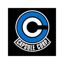 "T-SHIRT DRAGON BALL ""Capsule Corp Logo"" Large"