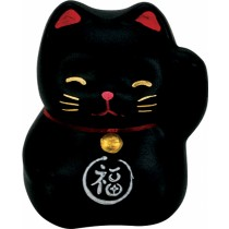 Maneki Neko - Lucky Cat - Black - Chase away Evil - 5.2 cm
