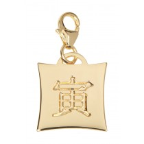 Japanese Star Sign Charm - Tiger - 18KT Gold Plated
