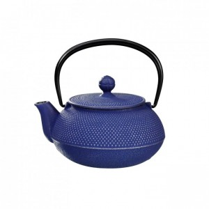 Arare Silver Blue Cast Iron Teapot 0.55L