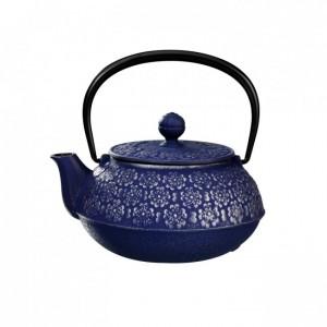Sakura Silver Blue Cast Iron Teapot 0.55L