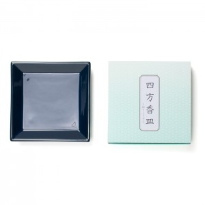 Shoyeido - Square Ceramic Incense Tray - Dark Blue