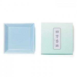 Shoyeido - Square Ceramic Incense Tray - Light Blue