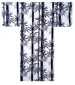 Ladies Yukata - Bamboo - White