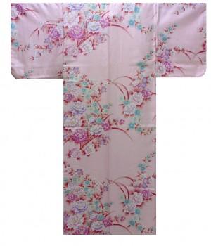 Ladies Kimono - Peony & Chrysanth - Pink