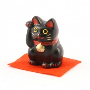 Maneki Neko - Black Lucky Cat S