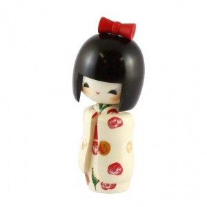 Kokeshi Doll - Long Sleaves White