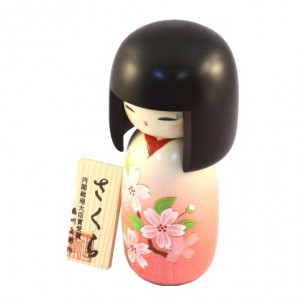 Kokeshi Doll - Sakura Light Pink