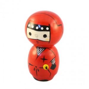 Kokeshi Doll - Ninja Red