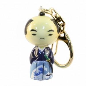 Kokeshi Doll Keyring Samurai