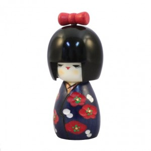 Kokeshi Doll - Momochan Blue