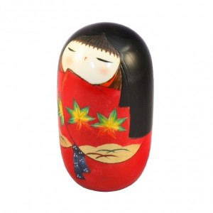 Kokeshi Doll - Momiji Red