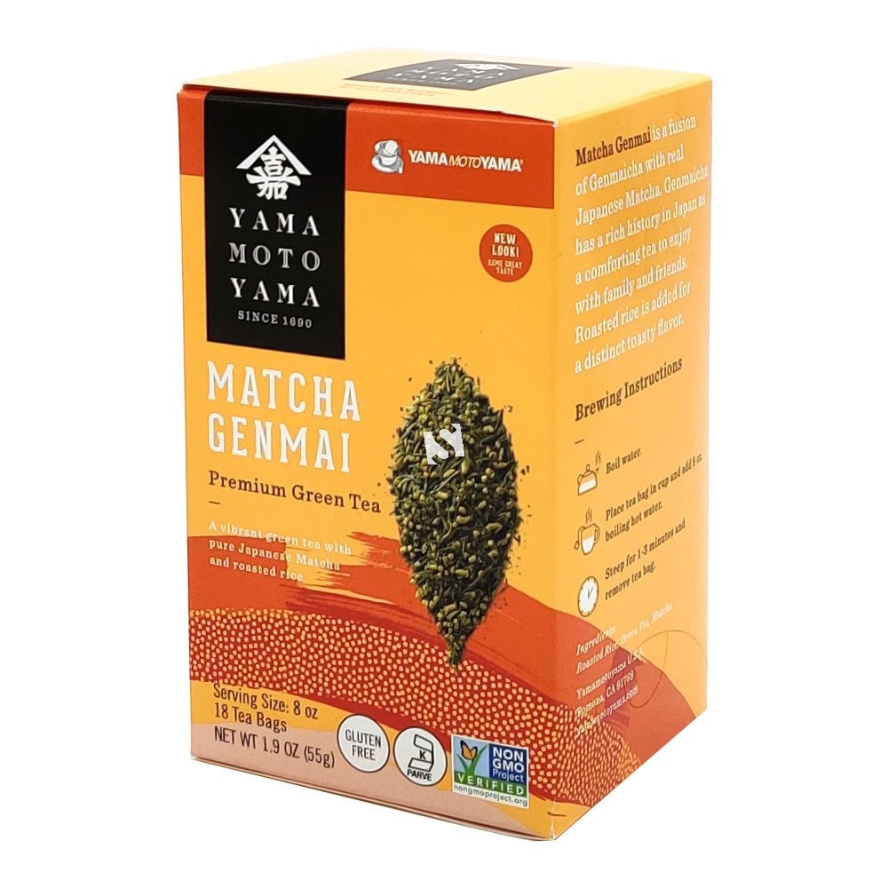 Yamamotoyama Matcha Genmai Premium Green Tea   x 18 Tea Bags