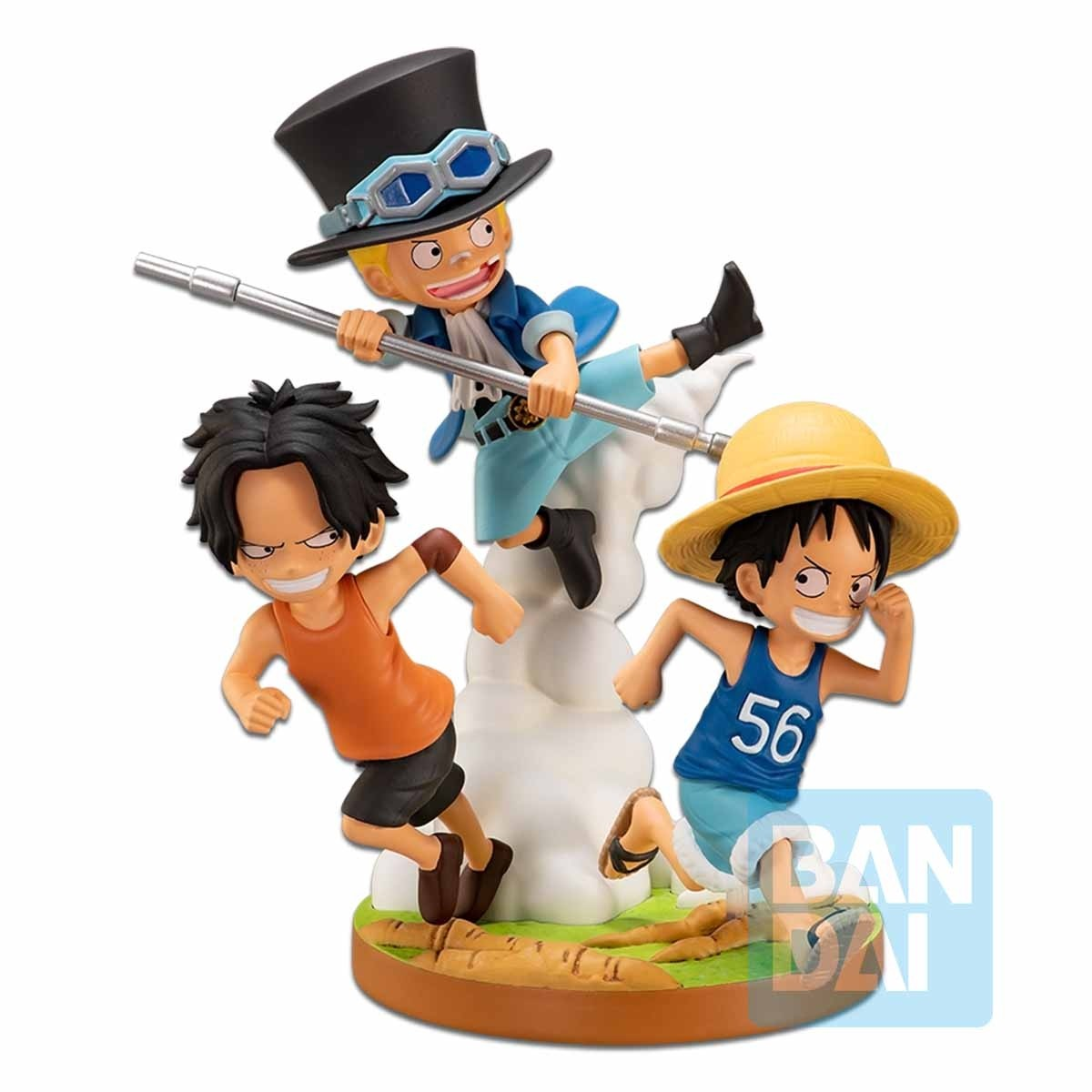 One Piece Figure Ichibansho The Bonds of Brothers Diorama