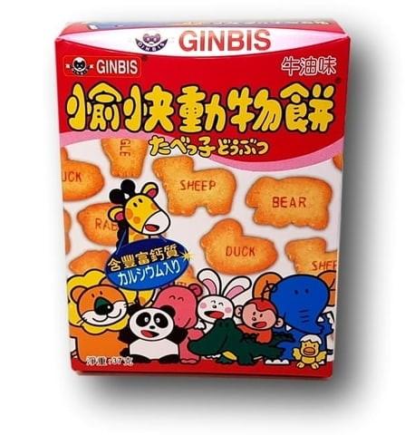 GINBIS - Dream Animals - Butter Flavoured Biscuits