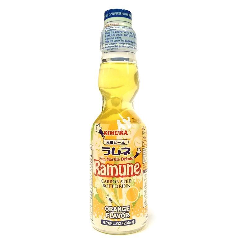 Ramune Pop Drink Orange Flavour 200ml