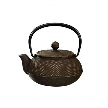 Arare Gold Brown Cast Iron Teapot 0.3L