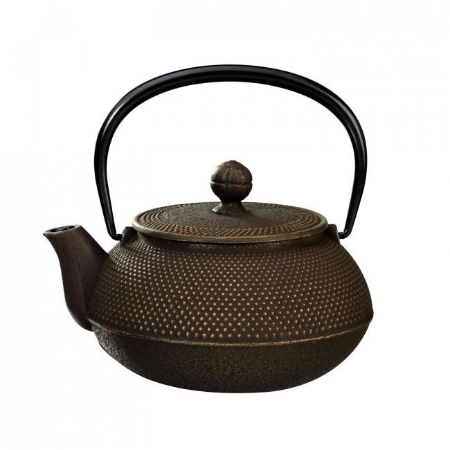 Arare Gold Brown Cast Iron Teapot 0.8L