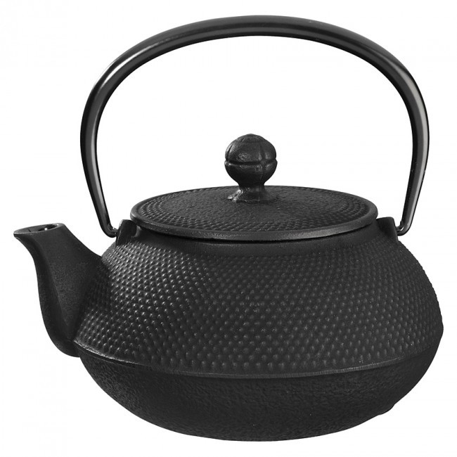 Arare Black Cast Iron Teapot 0.8L