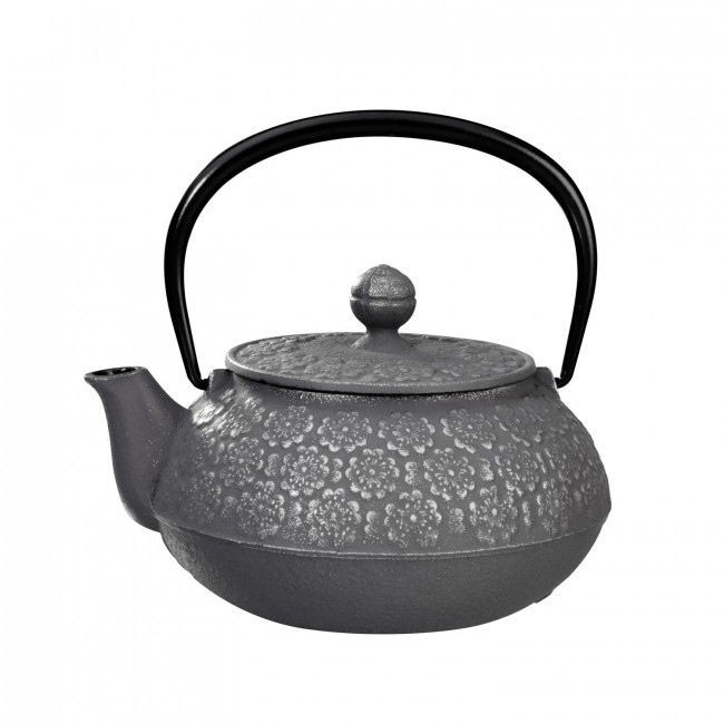 Sakura Silver Grey Cast Iron Teapot 0.55L