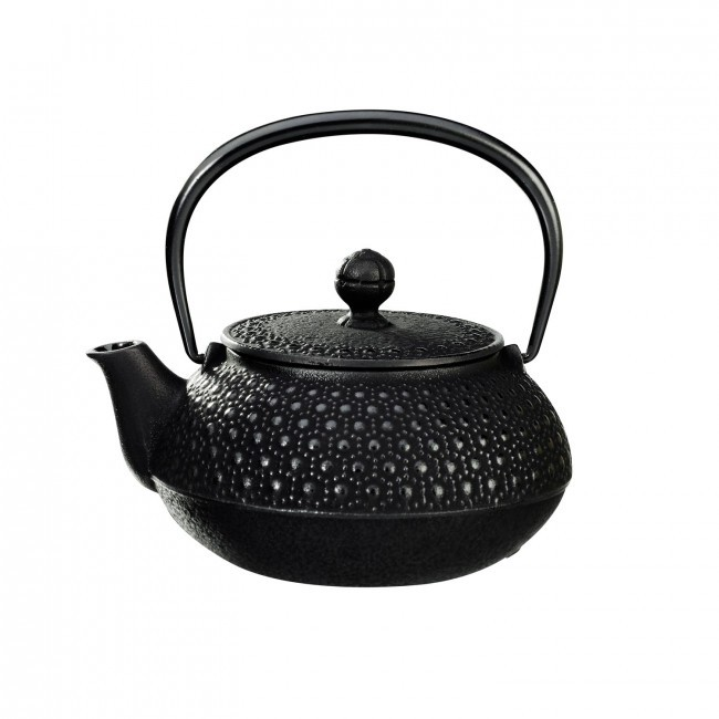 Kikko Black Cast Iron Teapot 0.55L