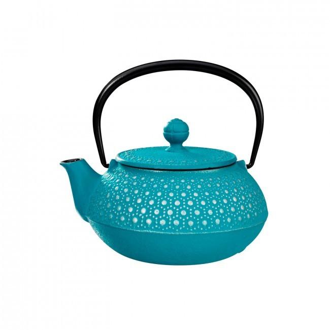 Kikko Silver Turquoise Cast Iron Teapot 0.55L
