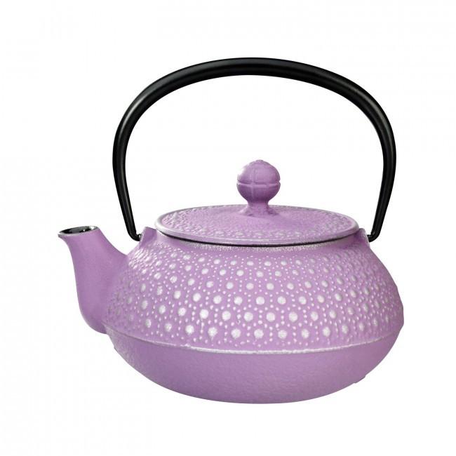 Kikko Silver Violet Cast Iron Teapot 0.55L