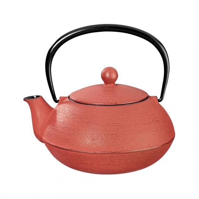 Hakeme Red Cast Iron Teapot 0.8L