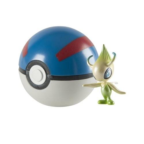 Pokemon 20th Anniversary Celebi Figure with Great Pokeball