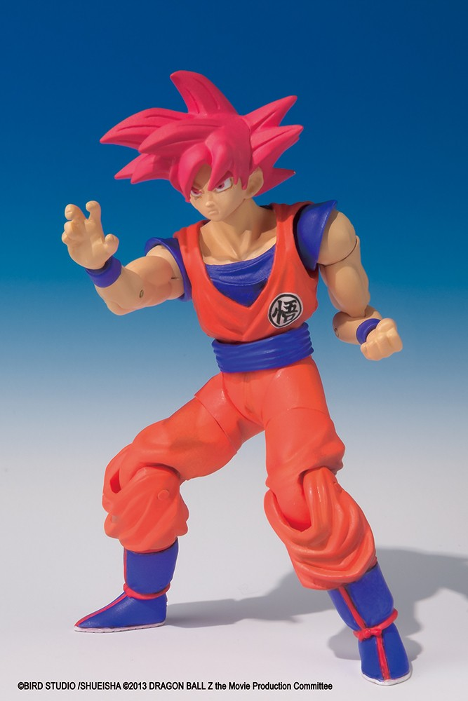 Dragon Ball Z - Bandai Shokugan Figure - Shodo Goku God 8 cm
