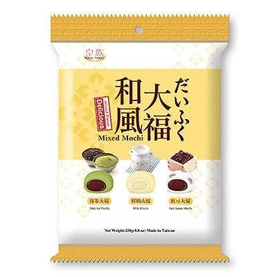 Royal Family Mochi - Mixed (Matcha, Milk & Red Bean) Flavour 250g