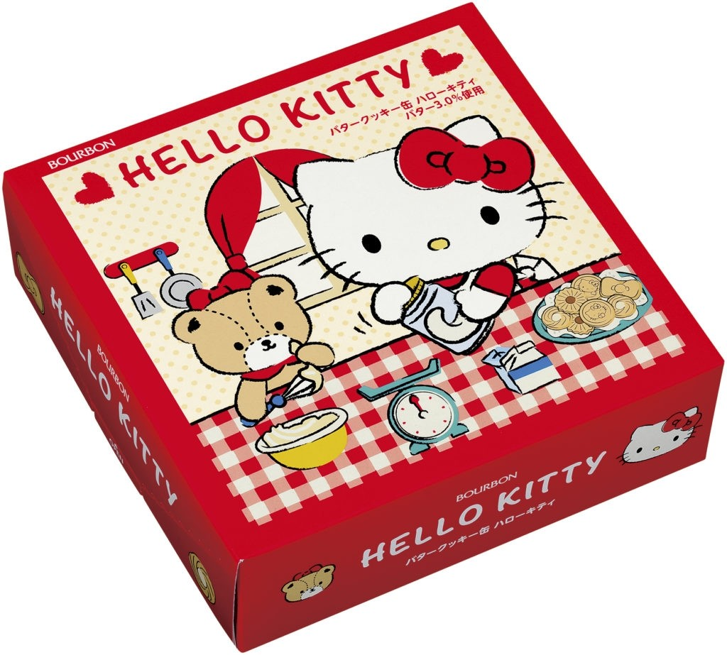 Eiwa Hello Kitty 60 Bourbon Butter Cookie in a Red Tin