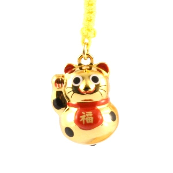 Maneki Neko Lucky Cat Gold Charm