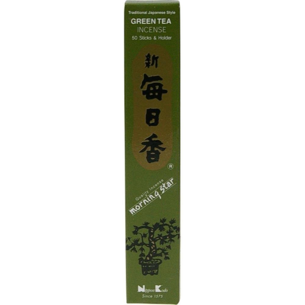Nippon Kodo - Morning Star - Green Tea - 50 Incense Sticks & Holder