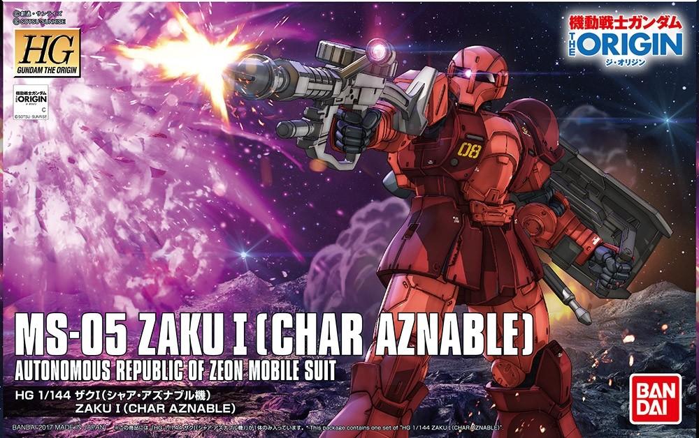 HGUC ZAKU I [CHAR AZNABLE] 1/144 - GUNPLA