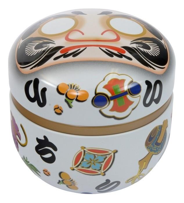 Tea Container Daruma White