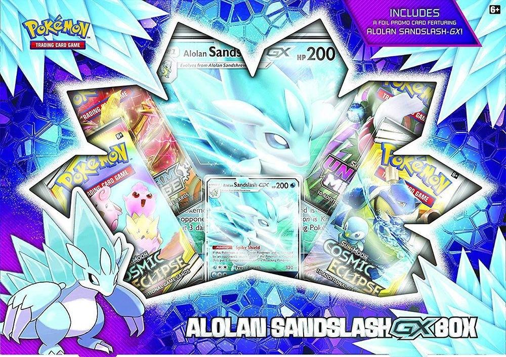 Pokemon TCG Alolan Sandslash-GX Box