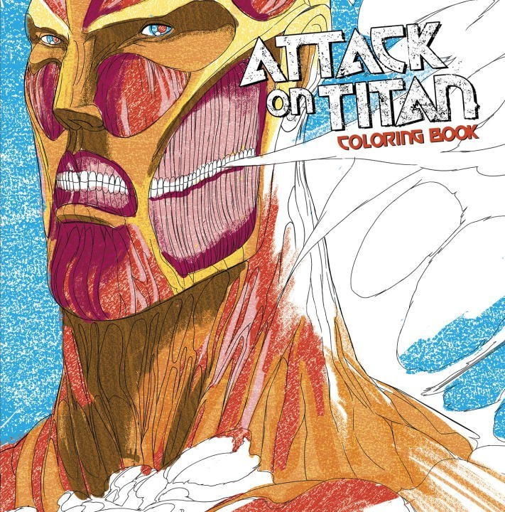 Attack On Titan, Adult Coloring Book by Hajime Isayama