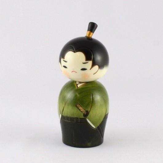 Kokeshi Doll - Young Samurai