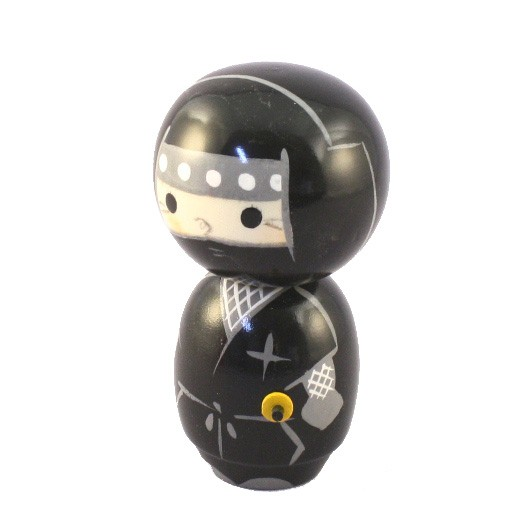 Kokeshi Doll - Ninja Black