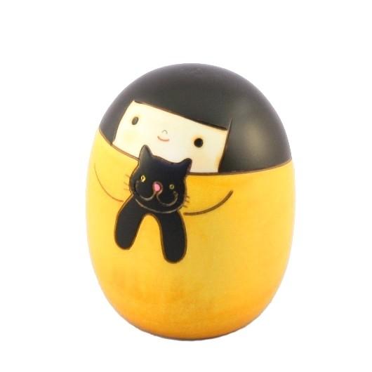 Kokeshi Doll - Neko no Kuro / Cat Kuro