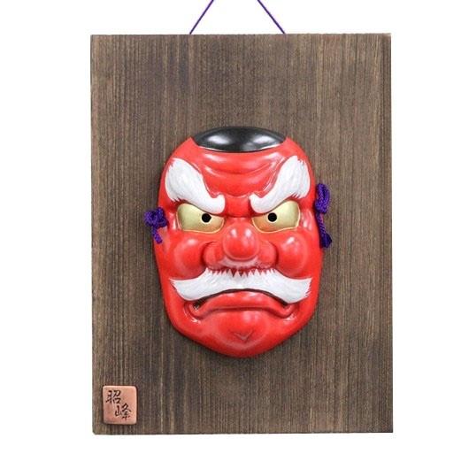 Kabuki Mask Tengu with Ornamental Wooden Plate