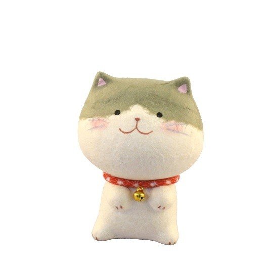 Maneki Neko - Tarafuku Cat Gray Spotted