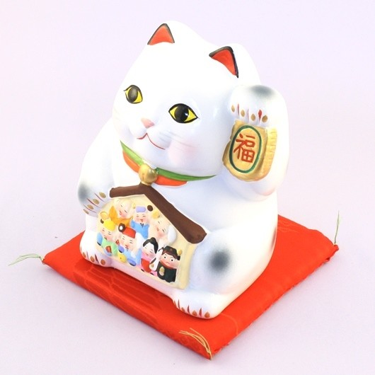 Maneki Neko - Lucky Cat with Seven Fortune Gods Money Box