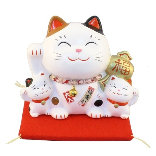 Maneki Neko - Lucky Cat Happy Family Bank