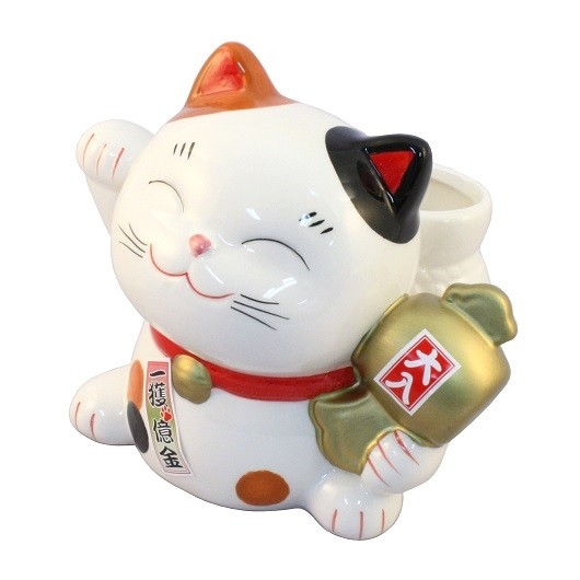 Maneki Neko - Lucky Cat With the Lottery Case (M)