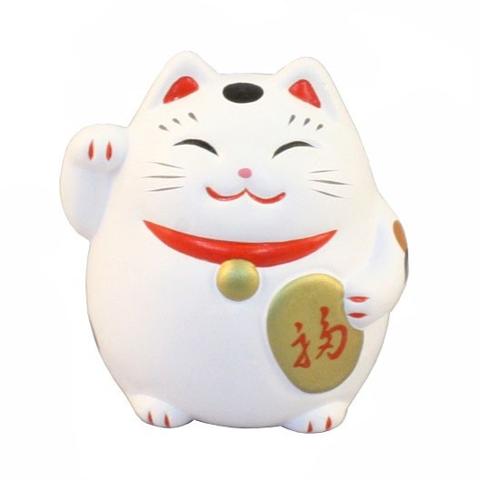 Maneki Neko - Lucky Cat Roly‐Poly White