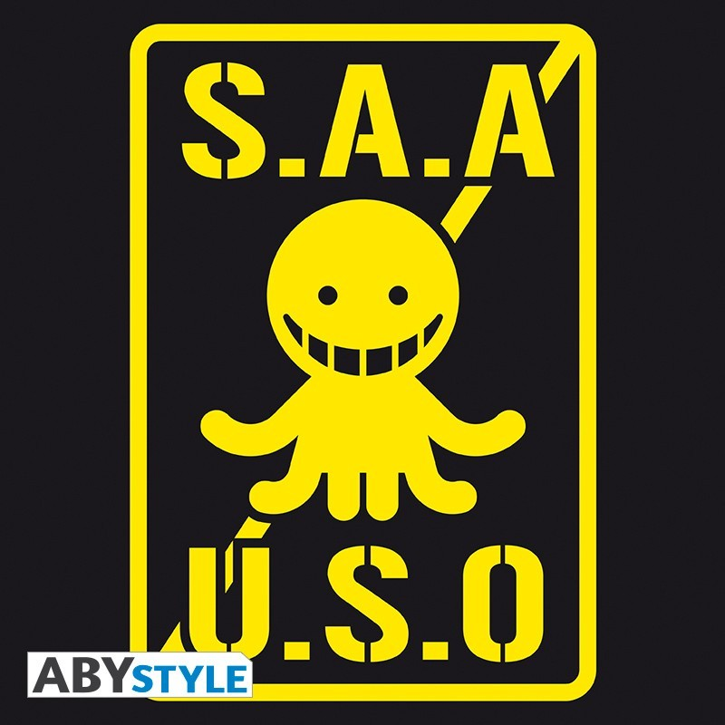 "T-SHIRT ASSASSINATION CLASSROOM ""S.A.A.U.S.O"" Large"