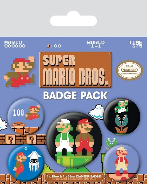 Super Mario Bros - Retro Badge Pack